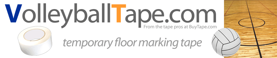 Volleyball Court Layout Floor Tape for Gym Floor Marking