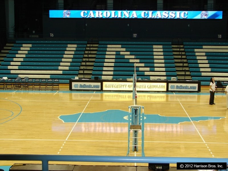 unc home court with tape from volleyballtape.com
